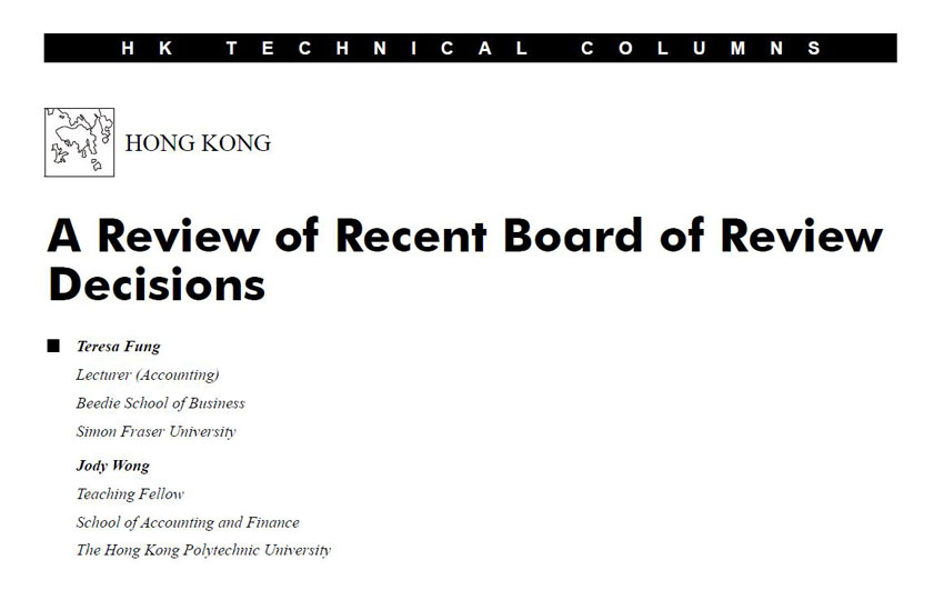 A Review of Recent Board of Review Decisions