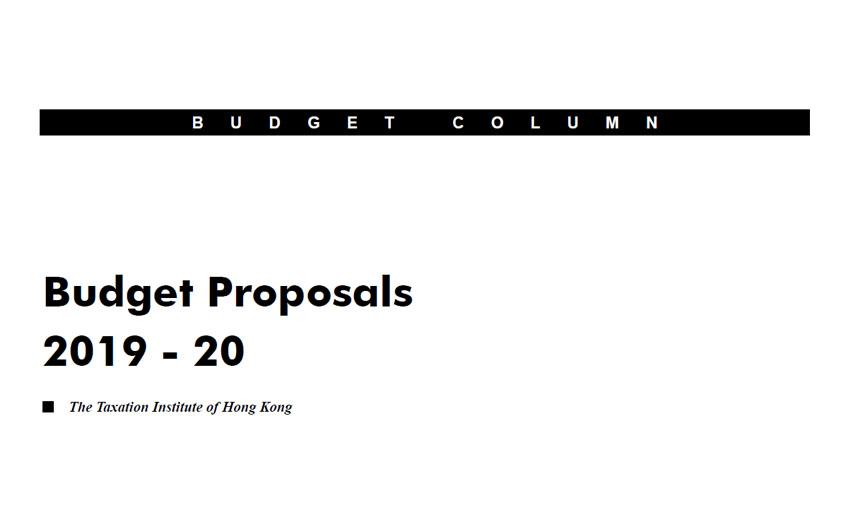 Budget Proposals 2019 – 20