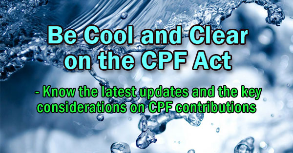 Be Cool and Clear on the CPF Act