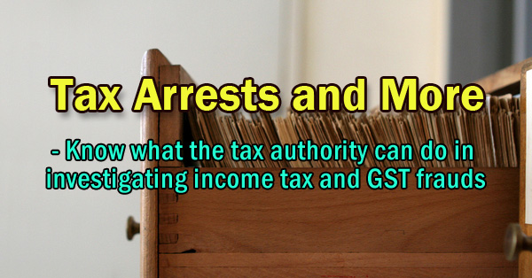 Tax Arrests And More